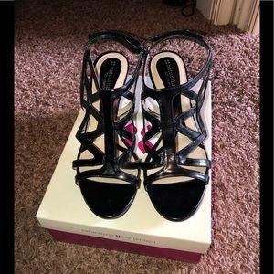 Naturalizer Danya black heeled sandal size 9 EUC